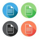 Ejemplo plano del vector del icono de documento Fotos de archivo libres de regalías