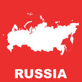 Ejemplo plano del vector del mapa de Rusia Imágenes de archivo libres de regalías