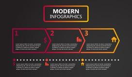 Ejemplo plano del vector del diseño de la plantilla de la presentación para la publicidad del márketing del diseño web libre illustration