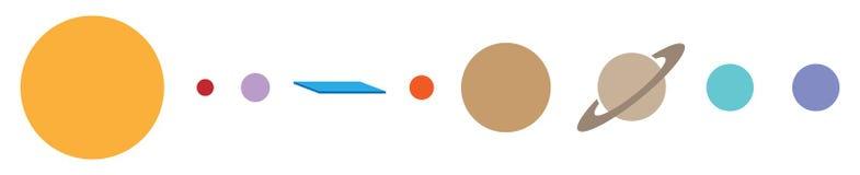 Ejemplo plano del vector del humor de la teoría de conspiración de la tierra ilustración del vector