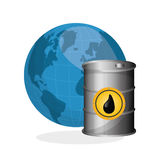 Ejemplo plano sobre conceptos del precio del petróleo, del petróleo y del gas Fotografía de archivo libre de regalías