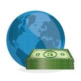 Ejemplo plano sobre conceptos del precio del petróleo, del petróleo y del gas Imagen de archivo libre de regalías