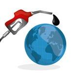 Ejemplo plano sobre conceptos del precio del petróleo, del petróleo y del gas Fotos de archivo libres de regalías
