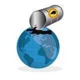 Ejemplo plano sobre conceptos del precio del petróleo, del petróleo y del gas Imágenes de archivo libres de regalías