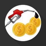 Ejemplo plano sobre conceptos del precio del petróleo, del petróleo y del gas Imagenes de archivo