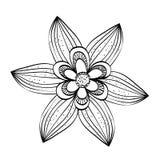 Ejemplo plano sobre diseño del garabato Imagen de archivo libre de regalías