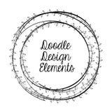 Ejemplo plano sobre diseño del garabato Imágenes de archivo libres de regalías
