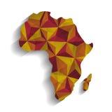 Ejemplo plano sobre el diseño de África Foto de archivo