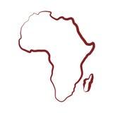 Ejemplo plano sobre el diseño de África Fotos de archivo