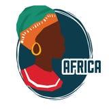 Ejemplo plano sobre el diseño de África Imagenes de archivo