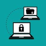 Ejemplo plano sobre el sistema de seguridad Fotografía de archivo libre de regalías