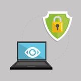 Ejemplo plano sobre el sistema de seguridad Imagen de archivo libre de regalías