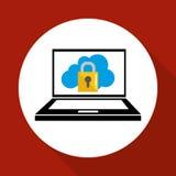 Ejemplo plano sobre el sistema de seguridad Fotos de archivo libres de regalías