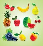 Ejemplo poligonal de las frutas Fotos de archivo