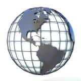 Ejemplo poligonal del globo de la tierra, opinión del estilo de América Foto de archivo