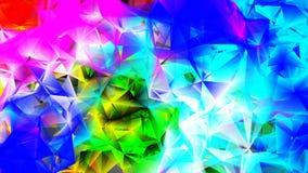 Ejemplo poligonal multicolor ligero, que consisten en triángulos Modelo triangular para su diseño de negocio Foto de archivo libre de regalías