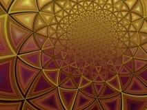 Ejemplo poligonal radiante colorido del fondo del amarillo del oro Imagenes de archivo