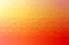 Ejemplo polivinílico bajo triangular desgreñado geométrico abstracto anaranjado del estilo Fotos de archivo libres de regalías