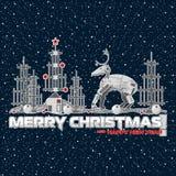 Ejemplo por la Navidad y el Año Nuevo Robots y mecanismos stock de ilustración