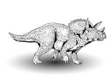 Ejemplo prehistórico del vector de los dinosaurios del Triceratops libre illustration