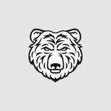 Ejemplo principal del vector del oso Fotos de archivo libres de regalías