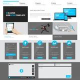 Ejemplo profesional del vector de la plantilla del sitio web, Fotos de archivo libres de regalías