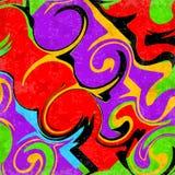 Ejemplo psicodélico abstracto brillante del vector del efecto del grunge Foto de archivo libre de regalías
