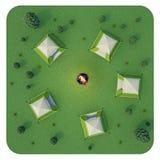 Ejemplo que acampa 3d Foto de archivo libre de regalías