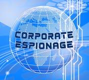 Ejemplo que corta cibernético secreto 3d del espionaje corporativo libre illustration