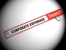 Ejemplo que corta cibernético secreto del espionaje corporativo 2.o stock de ilustración