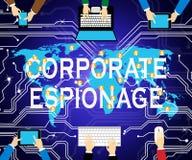Ejemplo que corta cibernético secreto del espionaje corporativo 2.o libre illustration
