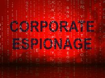 Ejemplo que corta cibernético secreto del espionaje corporativo 2.o ilustración del vector