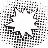 Ejemplo que lucha blanco y negro de Art Comics Speech Bubbles Vector del estallido del vintage Imagenes de archivo