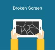 Ejemplo quebrado de la pantalla Concepto de la pantalla de la grieta Foto de archivo libre de regalías