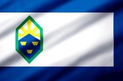 Ejemplo realista de la bandera de Colorado Springs Colorado ilustración del vector