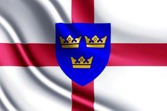Ejemplo realista de la bandera de East Anglia libre illustration