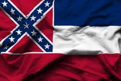 Ejemplo realista de la bandera de Mississippi libre illustration