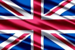 Ejemplo realista de la bandera de Reino Unido ilustración del vector