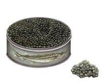 Ejemplo realista de una lata del caviar Libre Illustration