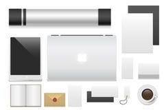 Ejemplo realista del vector de la opinión superior 3d de la identidad corporativa de la plantilla del negocio de la maqueta super Libre Illustration