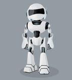 Ejemplo realista del vector del robot blanco Robot del vector Fotografía de archivo libre de regalías