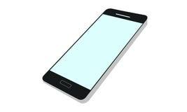 Ejemplo realista y detallado de un teléfono móvil con la exhibición aislada en el fondo blanco Imagen de archivo