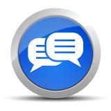 Ejemplo redondo azul del botón del icono de la conversación ilustración del vector