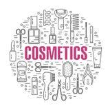 Ejemplo redondo de cosméticos Fotografía de archivo libre de regalías