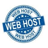 Ejemplo redondo del sello de goma del vector del host web ilustración del vector