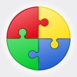 Ejemplo redondo del vector del rompecabezas Foto de archivo libre de regalías