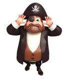 Ejemplo rendido de la actitud divertida del pirata Imagen de archivo