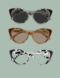 Ejemplo retro de los vidrios del ojo de gato Vector del desgaste del ojo Fotos de archivo