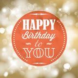 Ejemplo retro del vector del feliz cumpleaños Imagen de archivo
