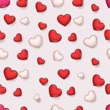 Ejemplo retro del vector del fondo de Valentine Day Romantic Love Hearts del modelo Foto de archivo libre de regalías